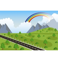 Spring or summer road in mountain vector image