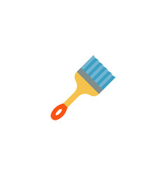 straight edge brush icon flat element vector image