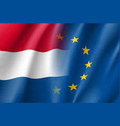 Symbol netherlands is eu member vector