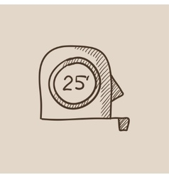 Tape measure sketch icon vector image
