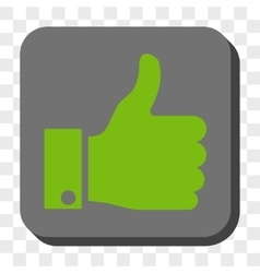 Thumb Up Rounded Square Button vector