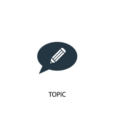 Topic icon simple element topic vector