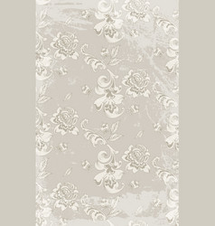 vintage retro roses damask pattern luxury vector image