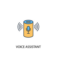voice assistant concept 2 colored line icon vector image