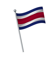 Waving of flag on flagpole official colors and vector