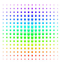 weight icon halftone spectral pattern vector image