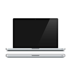 White laptop closed and opened vector