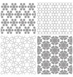 Arabic geometric patterns vector image vector image