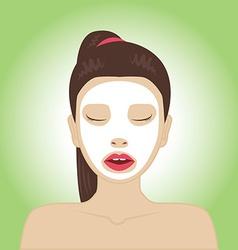 Beautiful woman with facial mask vector image