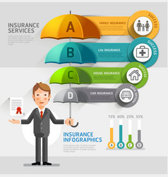 Business insurance services conceptual Business ma vector image vector image