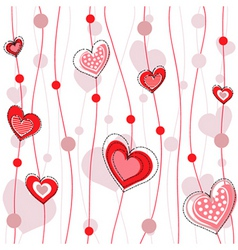 heart decorative design vector image vector image