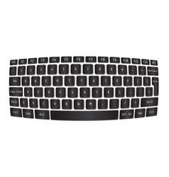 laptop keyboard modern sphere concept vector image