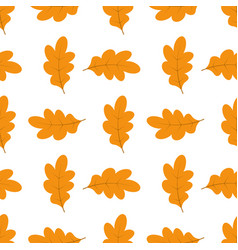 pattern with oak leaves vector image