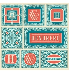 Retro cards set layered vector