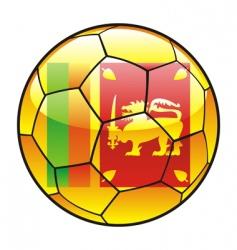 Sri Lanka flag on soccer ball vector image vector image