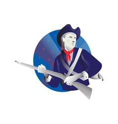 American minuteman revolutionary soldier vector image vector image