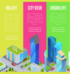 big city life banners set vector image