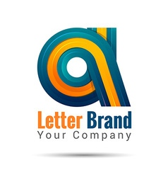 Business corporate letter A logo design template vector image