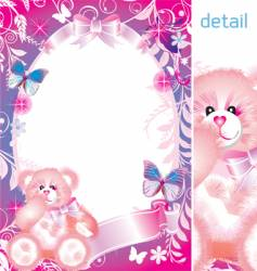 fairy-tale frame graphic vector image vector image