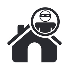 home thief icon vector image vector image