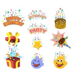 birthday gift element graphic vector image