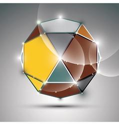 Celebration 3D metal shiny sphere fractal dazzling vector image vector image