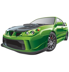 green custom car vector image vector image