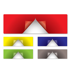 label center peel vector image