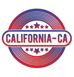california round flat badge vector image
