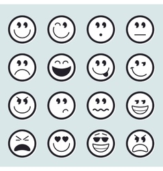 Set of emoticons icons vector image