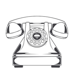 Vintage Phone with Buttons Dial Ring vector image vector image