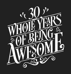 30 whole years being awesome vector