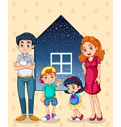A family with four members vector