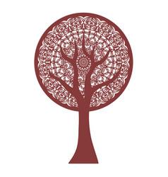 Abstract stylized tree - mandala vector