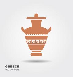 antique greek vase vector image