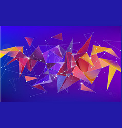 Astract 3d geometric shape isolated vector
