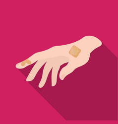 bactericidal plaster on the arm medicine single vector image