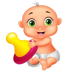 Baholding pacifier vector