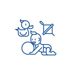 Baplayingduck baball whirligig line icon vector