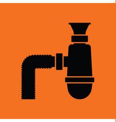 Bathroom siphon icon vector