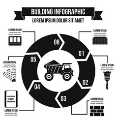 Building infographic concept simple style vector