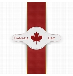Canada Day national Label with red Ribbon vector image