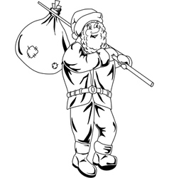Cartoon Santa Claus vector