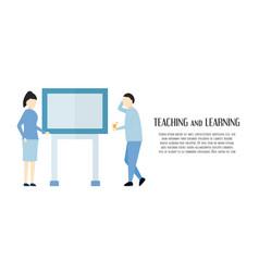 character design in scene of business vector image