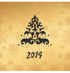 christmas card 2014 vector image