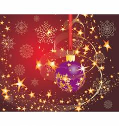 Christmas postcard vector image