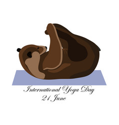 Concept on the international yoga day on june 21 vector