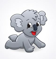 Cute cartoon infant koala crawling vector