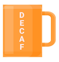 Decaf mug icon cartoon style vector