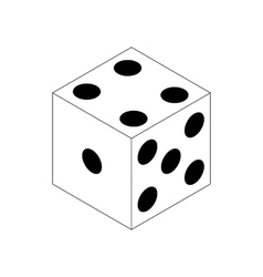 Dice icon isometric 3d style vector image